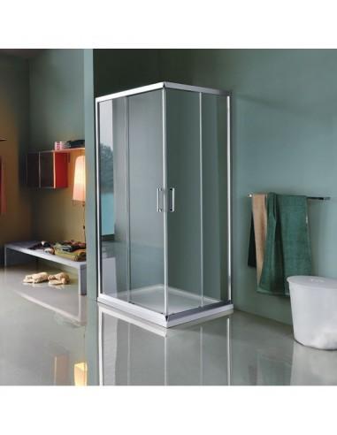 box doccia angolo scorrevole 87-89 cm
